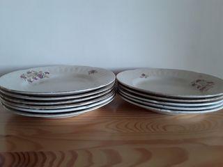 Lote 11 platos antiguos cerámica San Juan. Oferta