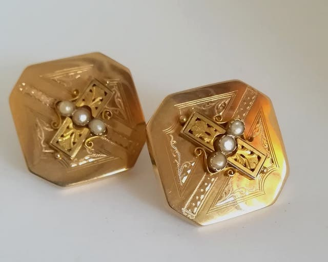 Pendientes antiguos oro 18k