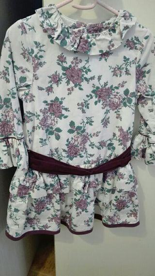 Vestido niña t 3-4
