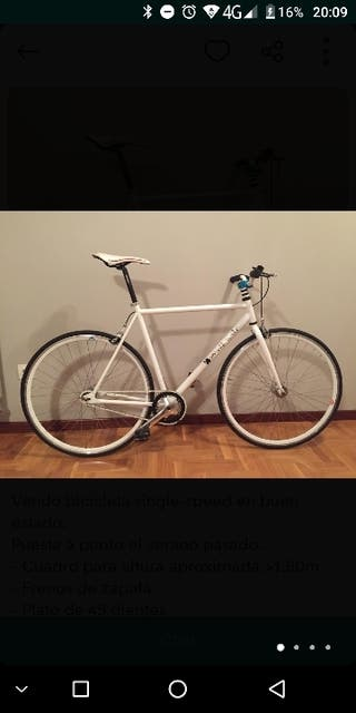Fixie bicicleta blanca