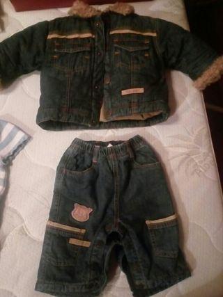 conjunto vaquero bebé 0-3meses,ropa