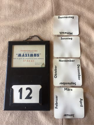 Calendari Vintage antiguo