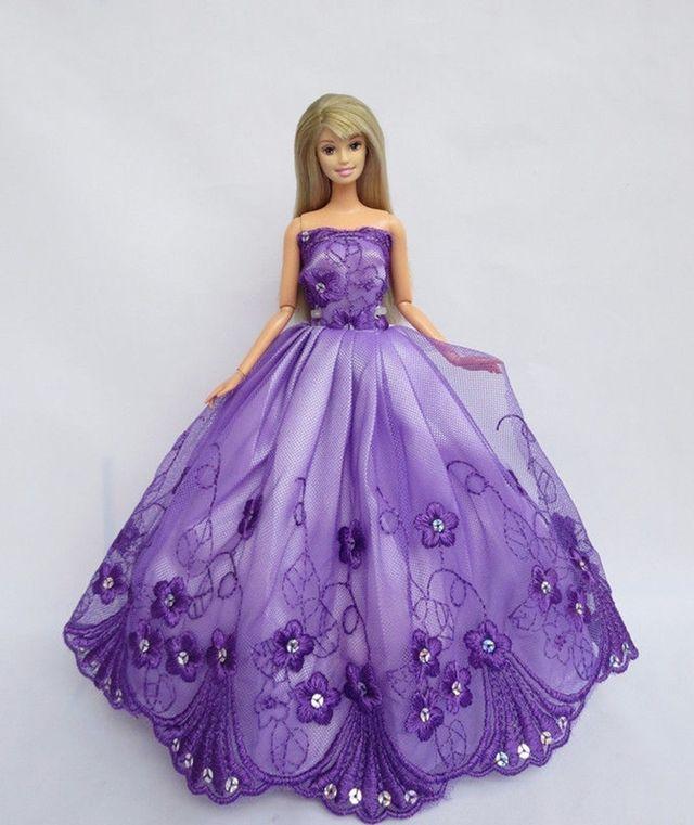 Vestido Morado Bordado Con Lentejuelas Barbie de segunda mano por 8 ...