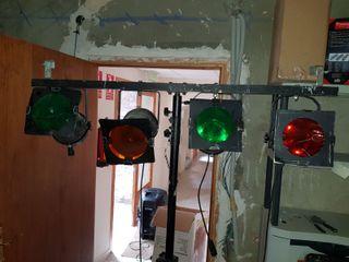 Equipo de luces discomóvil