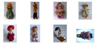 8 Muñecas de Fieltro o Tela