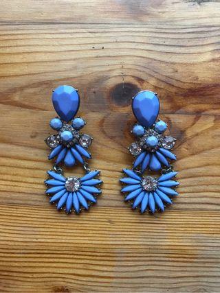 Pendientes azul