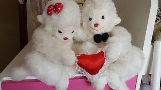 peluches pareja monos enamorados preciosos