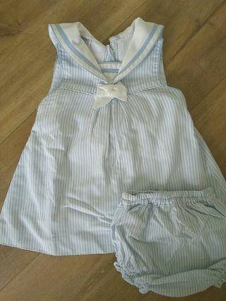 vestido marinero talla 12m