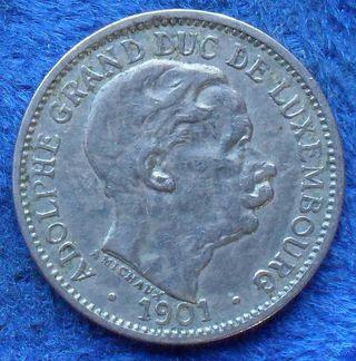 LUXEMBURGO - 10 centimes 1901 KM# 25 - moneda