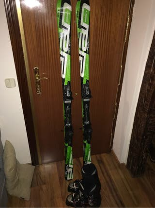 Esquís Elan EFlexGX 1,68 + Botas Head 321 mm