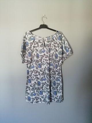 vestido leopardo talla m
