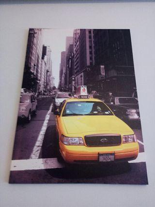 Cuadro lienzo taxi New York 50x70