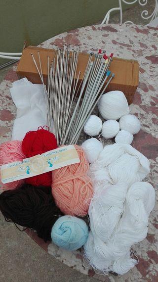 agujas marca Dama 40 cm para tejer,punto, tricotar
