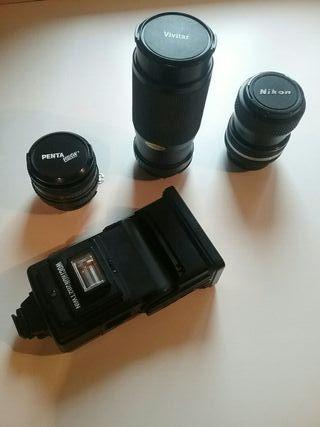 AHORA 160 € !!!! Objetivo fotografía + Flash
