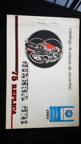 Gilera GR1 75 Replica año 1982 Catalogo piezas