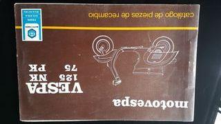 Vespa Primavera catalogo de piezas original