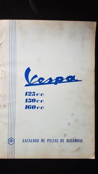 Vespa 125, 150, 160 año 1971 Catalogo de recambio