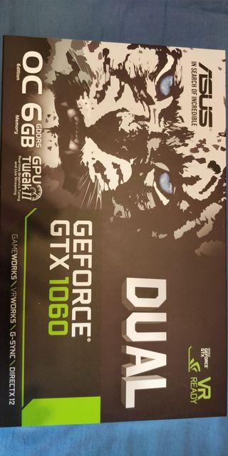 tarjeta gráfica asus dual gtx 1060 oc 6gb gdd5