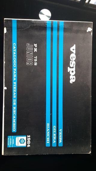 Vespa PK 75 Junior año 1984 Catalogo de piezas