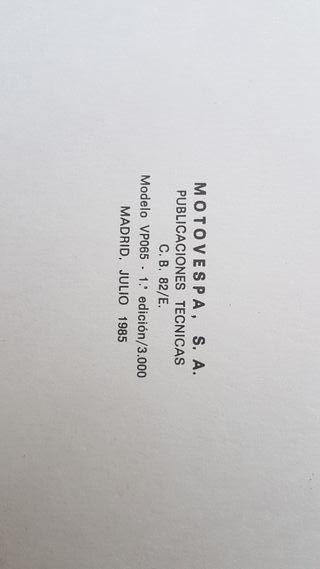 Vespino AL y ALX año 1985 Catalogo de piezas