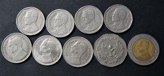 Thailandia . Lote 9 monedas diferentes