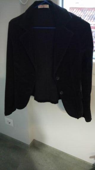 blazers negra terciopelo