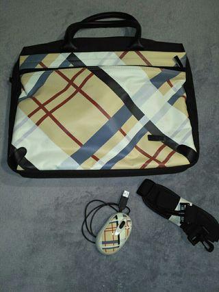 Bolsa Maletín Ordenador portátil + ratón USB