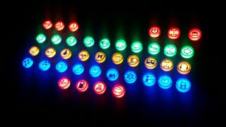 Indicadores led 5 colores,diferentes simbolos 12v