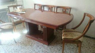 Mueble comedor+mesa extensible a 3 metros+6 sillas