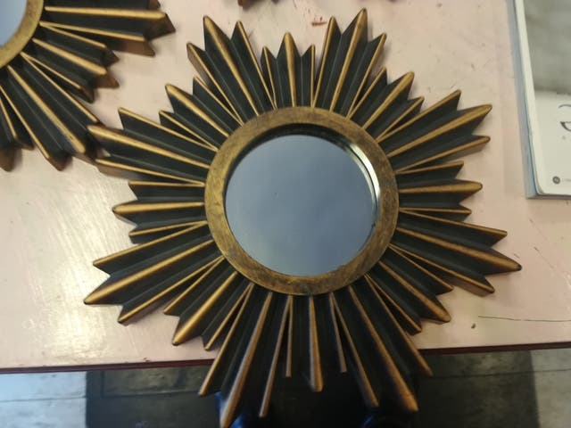colección de tres espejos tipo retro