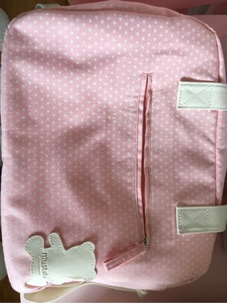 Bolsa maternidad mustela rosa