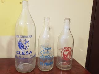 Botellas de leche coleccion
