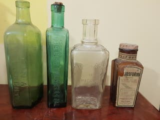 Botellas de farmacia de coleccion