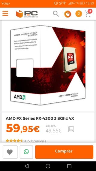 Procesador AMD FX 4300
