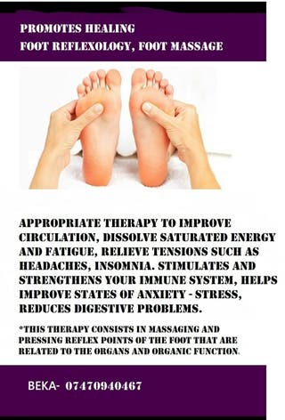 Foot reflexology* foot massage