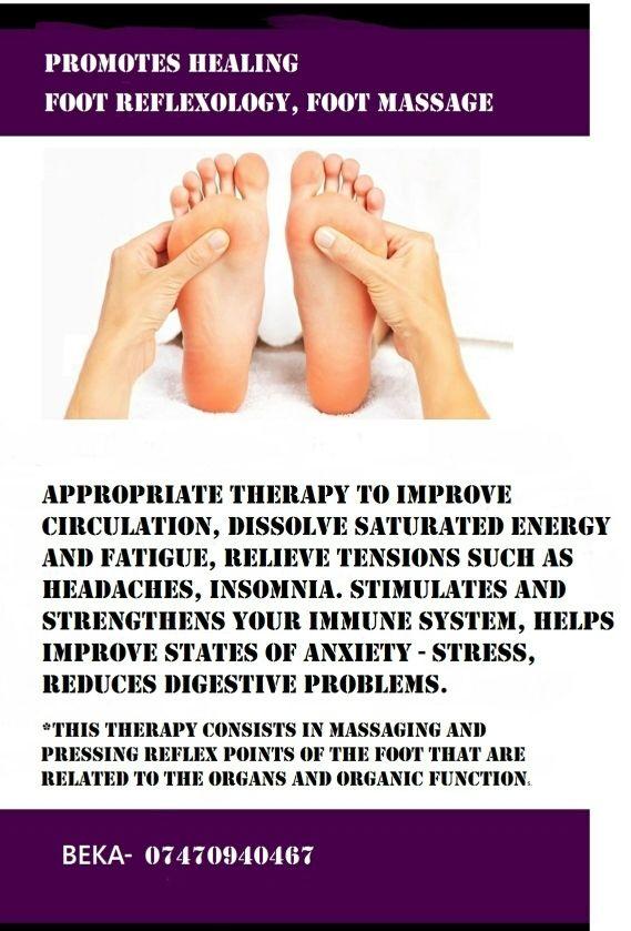 Foot reflexology* foot massage