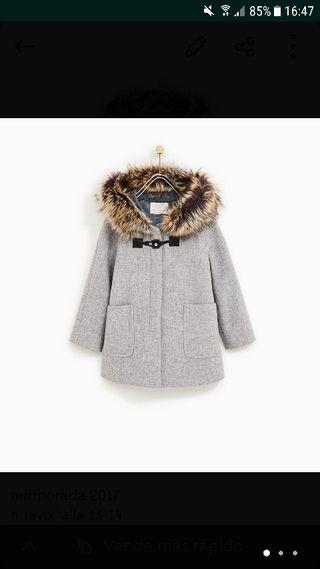 abrigo paño zara 2018 niña