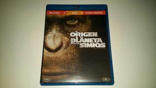 Blu Ray +Dvd El origen del planeta de los simios