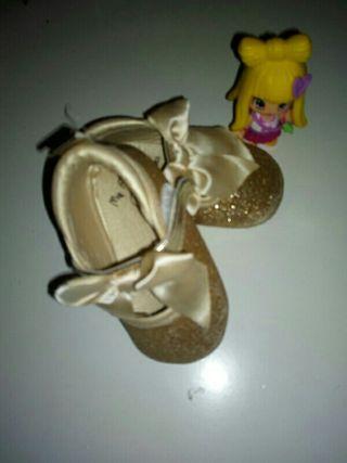 zapatos purpurina y lazo