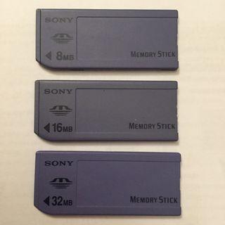 3 Memory Stick Sony