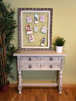Mueble taquillón recibidor restaurado