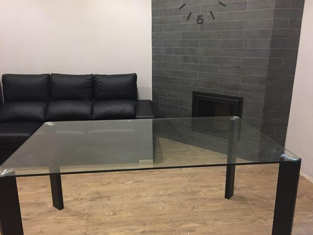 Mesa cristal comedor de segunda mano por 160 € en Barcelona - wallapop