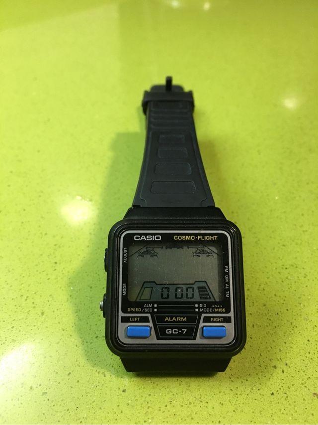 Reloj juego casio cosmo fligth GC 7 game watch