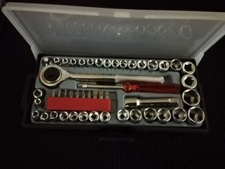 carraca 3/8 y destornillador 47 piezas