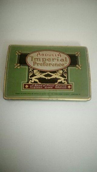 """Lata de tabaco Ingles """"Abdulla"""""""