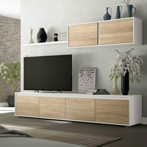 Mueble de comedor moderno salon completo, Blanco A de segunda mano ...