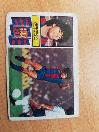 Cromo Maradona Liga 82-83