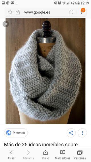 bufandas y cuellos de ganchillo