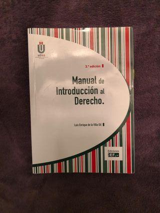 libro Manual de introducción al derecho