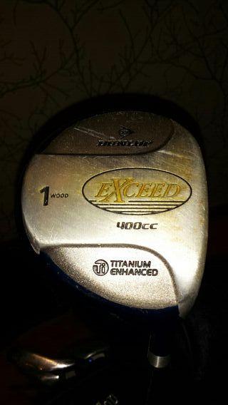 palos de golf dunlop exceed con bolsa y bolas.